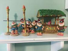 Miniature Tropical Tiki Party Gnome Figurines
