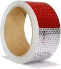 "30ft X 2"" Reflective Safety Tape Honeycomb Red/White for Trailers 2 Inch - Refle"