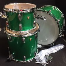 Ludwig Classic Maple Green Sparkle FAB Shell Pack