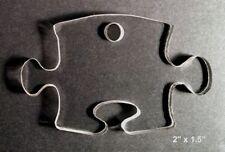 "(10) 2"" Puzzle Piece Autism Christmas Ornament Acrylic 1/8"" Keychain Blanks"