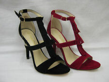 Clubwear Patternless Strappy, Ankle Straps Heels for Women