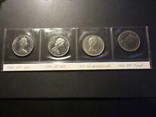 Lot of 4 Canada BU nickel 50c errors, all strike-through wire / thread errors