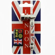 NEW METAL SMOKING PIPE WITH FIVE PIPE SCREENS, Small Pocket size union jack UK1