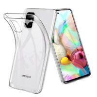 Case for Samsung Galaxy A71 Ultra Slim Clear Silicone GEL Soft TPU Cover