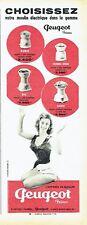 Publicité Advertising 097  1957   Peugeot Frères   moulin à café éléctrique
