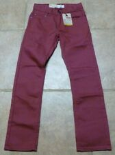 Levis 511 Denim Jeans Red Shade Youth Size 12 Reg 26 x 26 NWT