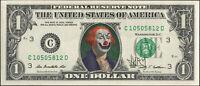 Jury The Clown Dollar Art Original Hand Painted Evil Clown George Washington