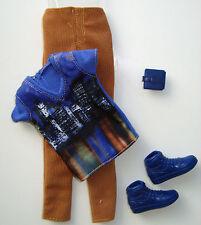 Barbie/ KEN Clothes/Fashion Blue Shirt W/ Corduroys & Shoes, Wallet NEW! RARE!