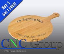 """Personalised Engraved Bamboo Pizza Paddle 12.5"""" Wedding Birthday Catering Gift"""