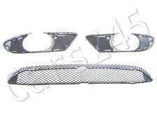 Genuine Front Bumper Mesh Grille Set 3 pcs Fits Mercedes C Class W203 AMG 01-07