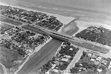 CARRUM Patterson River & Bridge Nepean Hwy Aerial 1930 modern Digital Postcard