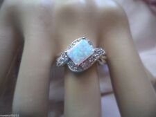 Art Deco Vintage Jewellery Sterling Silver Opal Sapphire Ring Antique Jewelry