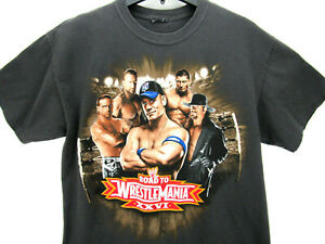 2010 WrestleMania XXVI Men's Size Large T Shirt Triple H Undertaker John Cena