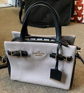 Hardly Used Kate Spade New York Beige & Black Leather Medium Crossbody Grab Bag
