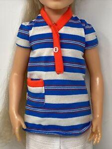 Vintage Mattel MY BEST FRIEND CYNTHIA Doll Outfit #3392 SCHOOL FUN DRESS
