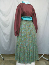 Victorian Dress Edwardian Costume Civil War Prairie Western Style Reenactment