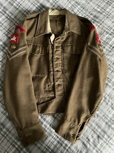 Life Guards WWII British Army P40 Battledress Blouse