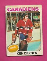 1975-76 OPC # 35 CANADIENS KEN DRYDEN GOALIE LOW GRADE CARD (INV# C8774)