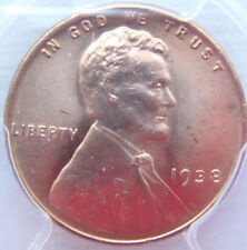 1938- Lincoln Cent PCGS MS66RD Brilliant -smooth fields
