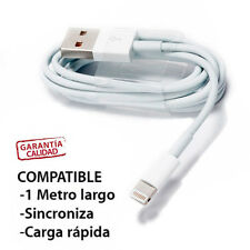 CABLE CARGADOR Y DATOS COMPATIBLE IPHONE 5 5S 5C 6 IPAD AIR MINI 2 RETINA 8 PIN