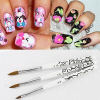 5X Pro Detachable Nail Art Acrylic Kolinsky Sable Brush Nail Art .Brush Kit*.~