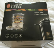 Russell Hobbs 21140 ElectricSteamer 3 Tiers 800 Watt White Brand New Damaged Box