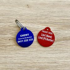 $3.80! Superb Quality! Round Id Keyring, Dog / Cat Tag, Free Engrave & Post