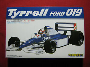 Tyrrell Ford 019 1/24 Modeler's Formula 1 F1 Model Kit Rare Nakajima Alesi 1991