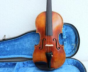 """Old used violin labeled: """"Giuseppe BARONI"""" very old Look ! violin バイオリン 小提 скрип"""