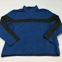 Tek Gear Fleece Jacket Mens 2XL XXL Red Gray 1/3 Zip Stand Up Neck Insulated