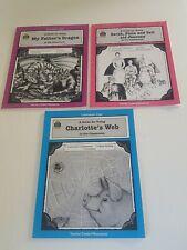 Literature Unit Lot TCR My Father's Dragon, Charlotte's Web, Sarah Plain Tall