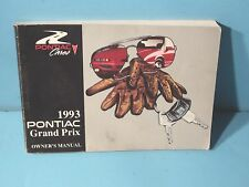 93 1993 Pontiac Grand Prix owners manual