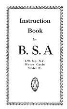 (0451) BSA model 'W' Instruction book