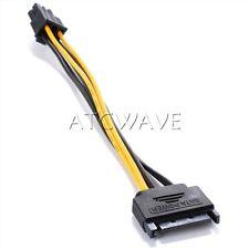 15pin SATA Power to 6pin PCI-E Express Adapter Cable Graphics Card bitcoin