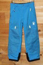 Spyder Snow Ski Winter Snowboard Pants Neon Blue Unisex Youth Size 14  28x26