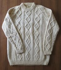 An Irish Traditional Hand Knit Chunky Wool Sweater Republic of Ireland WOOL