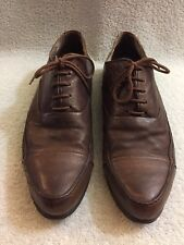 Moma Brown Leather Captoe Lace Up Shoes Men's Size US10.5-11 -12 1/2 Inches