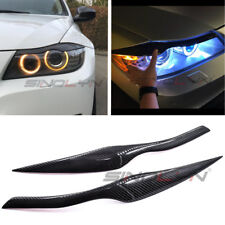 Carbon Fiber Headlight Cover Eyebrow Eyelid for BMW 3 E90 E91 4DR Retrofit Decor