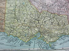 1919 LARGE MAP ~ AUSTRALIA SOUTH EAST VICTORIA NEW SOUTH WALES MELBOURNE SYDNEY
