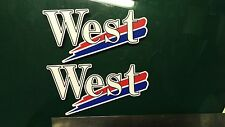 2x West Decals, Motorcycle, Car, Gilera, italjet,  Racing Sticker Printed Vinyl