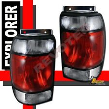 1995 1996 1997 Ford Explorer 97 Mercury Mountaineer Red Clear Tail Lights RH+LH