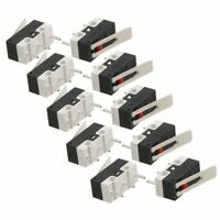 5X(10 Pcs AC 125V 1A SPDT 1NO 1NC Momentary Long Hinge Lever Micro Switch P7K4)