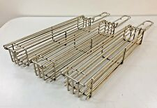 """Grilling Cooking Baskets for Vegetables Lot of Three 12"""" Long"""