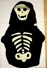 "Skeleton pet dog costume - black with white glow in dark bones - small 11"" NWT"