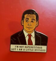 The Office Pin Michael Scott Pin Superstitious TV Show Enamel Brooch Badge Lapel