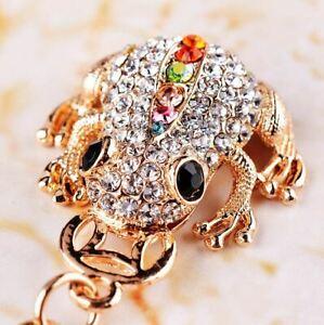 Fashion Women's Frog Keychain Crystal Keyring Handbag Bag Pendant Gift