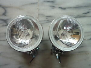"0055-Classic Mini New Pair 4.5"" Fog Lamp Stanless Case Rally Austin Mini Morris"