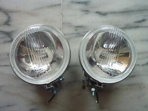 "0055-Classic Mini New Pair 4.5"" Fog Lamp Stanless Case Rally Austin Mini Morris"
