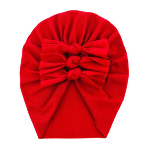 Kids Toddler Baby Turban Bow Knot Head Wrap Cute Boys Girls Beanie Hat Cap 2021