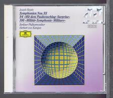 HAYDN CD NEW SYMPONIES 93 .94.100 HERBERT VON KARAJAN (DG)
